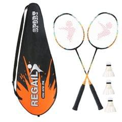 2 Player Badminton Bat Replacement Set Ultra Light Carbon