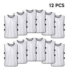 12 PCS Kid's Soccer Pinnies Quick Drying Football Jerseys