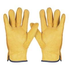 Leather Working Gloves Men's Work Cowhide Gloves Gardening - XL