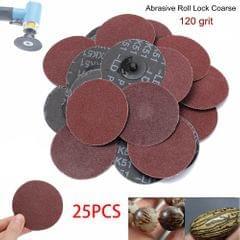 25PCS 3'' 75MM 120 Grit Abrasive Paper Sanding Disc - 25PCS