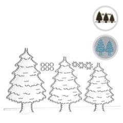 Christmas Metal Cutting Dies Xmas Tree Cute Cats Shape - Xmas Tree