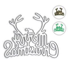 Metal Cutting Dies Merry Christmas Letters Xmas Tree Shape - Merry Christmas