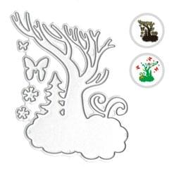 Christmas Metal Cutting Dies Xmas Tree Bird Shape Cutting - Tree
