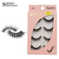 Anself SHIDISHANGPIN 4 Pairs 3D Fake Eyelashes False - G108