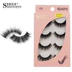 Anself SHIDISHANGPIN 4 Pairs 3D Fake Eyelashes False - G109