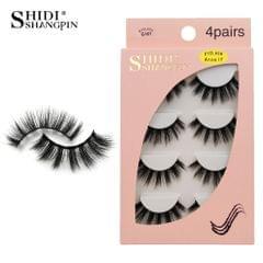 Anself SHIDISHANGPIN 4 Pairs 3D Fake Eyelashes False - G107