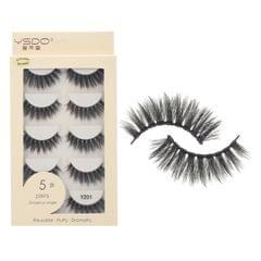 Anself 5 Pairs 3D Fake Eyelashes False Eyelashes Handamde - Y201