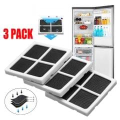 3PCS OPP Package Replaceable Refrigerator Air Filter