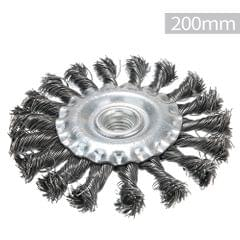 Knotted Bench Steel Wire Brush Deburring Derusting Angle - 200