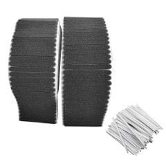 100PCS Non-woven Fabric Nasal Sponge Black+100PCS Double
