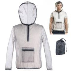 Outdoor Ultralight Mesh Hooded Bug Jacket Anti-mosquito See - L