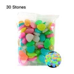 30pcs/Bag Luminous Pebbles Stones Home Fish Tank Outdoor - 12