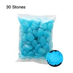 30pcs/Bag Luminous Pebbles Stones Home Fish Tank Outdoor - 7