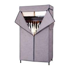 3 Tier Carbon Steel Clothing Rack Shelving Garment with Zip