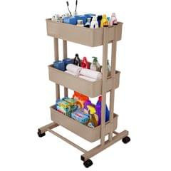 3 Tier Rolling Storage Utility Cart on Wheels Moveable