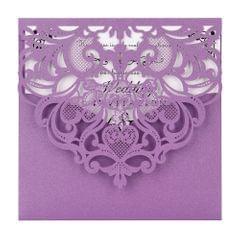 20Pcs Pearl Paper Laser Cut Wedding Invitation Cards