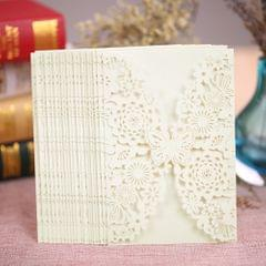 20Pcs Romantic Wedding Party Invitation Card Delicate Carved