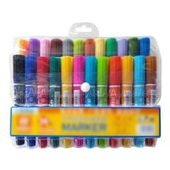 24 Colors Double-headed Marker Hightlight Pen Chisel Tip - 24 Pcs
