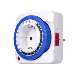 24 Hours Plug-in Timer Switch Mechanical Timing Socket Time - EU Plug