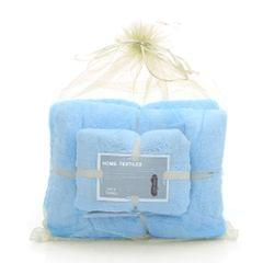 2Pcs/Set Coral Fleece Bath Towels Soft Comfortable