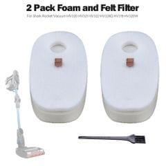 2 Pack Vacuum Foam and Felt Filter Set for Shark Rocket - 2 Pack