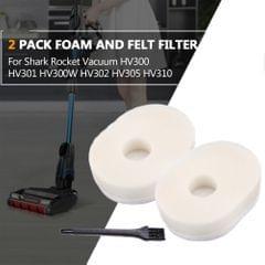 2 Pack Vacuum Foam and Felt Filter for Shark Rocket Vacuum - 2 Pack
