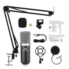 Studio Recording Condenser Microphone Kit with Shock Mount + - A