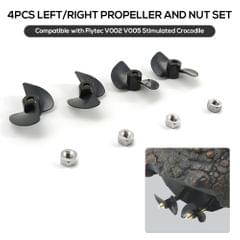 4Pcs Left/Right Propeller and Nut set Compatible with Flytec