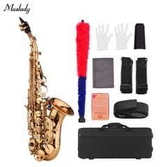 Muslady Mini Bb Soprano Saxophone Sax Brass Material Gold