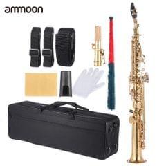 ammoon Brass Straight Soprano Sax Saxophone Bb B Flat