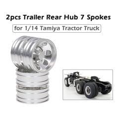2pcs Trailer Rear Hub Aluminum Alloy Rim 7 Spokes for 1/14