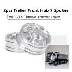 2pcs Trailer Front Hub Aluminum Alloy Rim 7 Spokes for 1/14 - Front