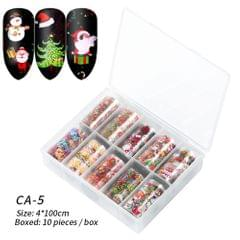 Box of 10 Rolls Transfer Watermark Nail Stickers for - CA-05