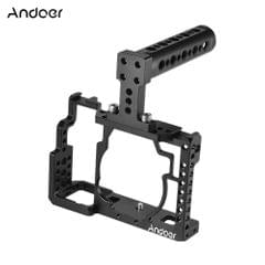 Andoer Aluminum Alloy Camera Cage + Top Handle Kit Video - Camera cage with handle