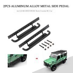 2PCS Aluminum Alloy Metal Side Pedal for 1/10 RC4WD D90 RC