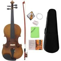 4/4 Full Size Violin Fiddle Matte Finish Northeast Pine Face