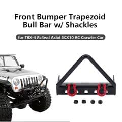 Steel Front Bumper Triangle Bull Bar with Shackles for 1/10