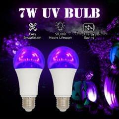 2PCS 7W A19 LED UV Bulb Violet Bulb UV Black Light Bulb UVA - 7W