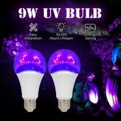 2PCS 9W LED UV Bulb Violet Bulb UV Black Light Bulb UVA - 9W