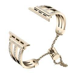 Three-row Diamonds Adjustment Chain Metal Alloy Stainless