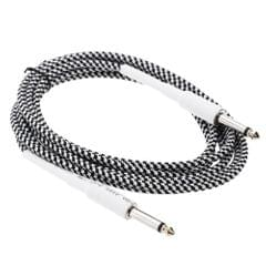 6.6ft / 2m 6.35mm Mono Male to 6.35mm Mono Male Cable Wire