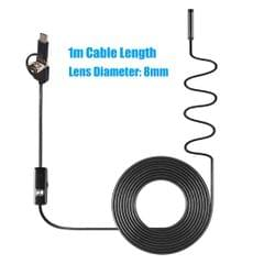 3-in-1 Industrial Endoscope Borescope Inspection Camera - 8mm & 1m