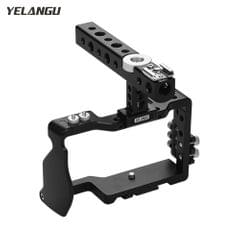 YELANGU Camera Cage with Top handle and Cable Clamp Film - Camera Cage & Top Handle