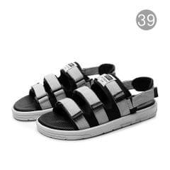 Anti-Slip Rubber Sandals Unisex Shoes with Open Toe Design - 39