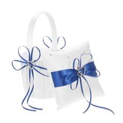 6 * 6 inches Double Heart Satin Ring Bearer Pillow and