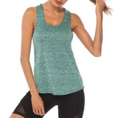 Women Workout Tops Racer Back Solid Sleeveless Yoga Fitness - X-Large