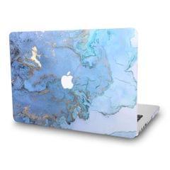 MacBook Pro 13 Case Super Thin Rubberized Coated Laptop - Blue