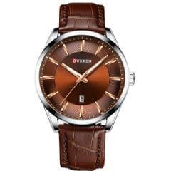 CURREN 8365 Quartz Man Wristwatch Watch for Male with - Silver case