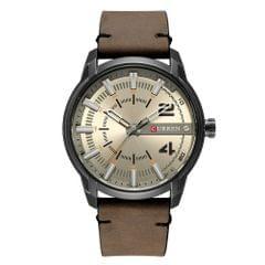 Curren Fashion Leather Watches Men Quartz Analog Date Clock