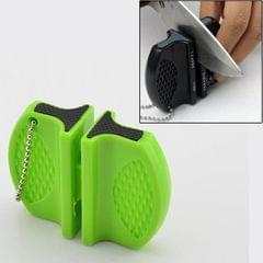Butterfly Type Portable Mini Kitchen Knife Sharpener Camping Pocket Knife Sharpener (Green)